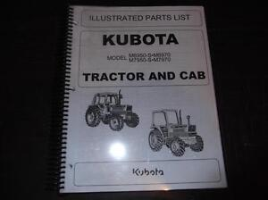 Kubota M6950 s M7950 s M6970 M7950 Tractor And Cab Parts Catalog Manual