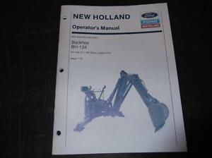 New Holland ford Bh134 Backhoe Operators Manual For Use On The L 780 Skid Steer
