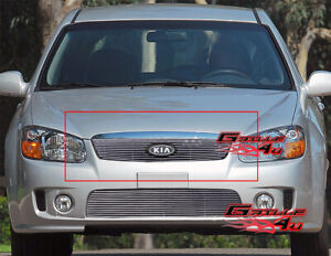 Fits 2007 2009 Kia Spectra Main Upper Billet Grille Grill Insert