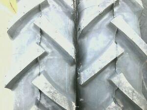 Two 750x18 Backhoe Deere Kubota R 1 Bar Lug 8 Ply Tractor Tires With Tubes