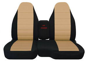 60 40 High Back Car Seat Covers Blk Tan Fits 98 03 Ford Ranger Mores Color Avbl