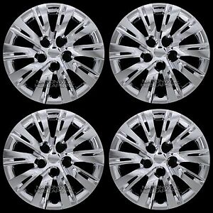 4 Chrome 2007 16 Toyota Camry 16 Wheel Covers Hub Caps Full Hubs Fit Steel Rim