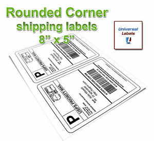 100 Rounded Corner Shipping Label Sheets 2 Labels Per Sheet 200 Total Labels
