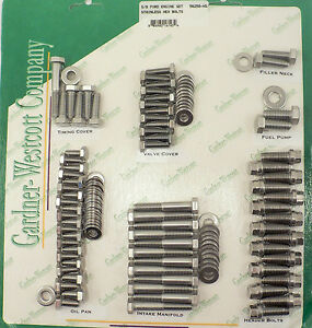 Gar 56250 hs Small Block Ford Complete Engine Bolt Kit Stainless Steel 289 302
