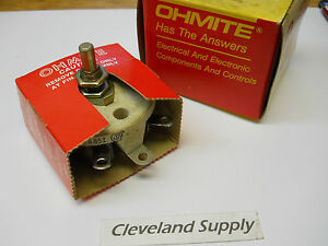 Ohmite Rjs1k6 Rheostat Potentiometer 50 Watt 1600 Ohms New Condition In Box