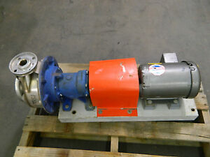 Goulds Fg7st116 1 1 4x2 8 Stainless S s Centrifugal Pump W 1 1 2hp 230 460v 3ph
