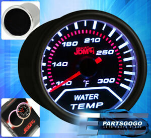 Universal 2 52mm Jdm Water Temperature Gauge Smoked Tint Led Performance Racing