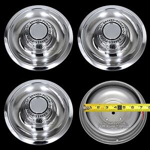4 Chevy Gm Disc Brake Rally Wheel Center Hub Caps Rim 5 Lug Nut Cover Trim Rings