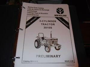 New Holland 3010s 3 Cylinder Tractor Parts Manual