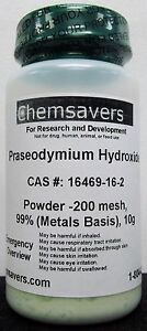 Praseodymium Hydroxide Powder 200 Mesh 99 metals Basis 10g