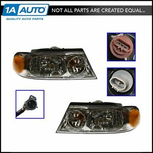 Headlights Headlamps Left Right Pair Set New For 98 02 Lincoln Navigator