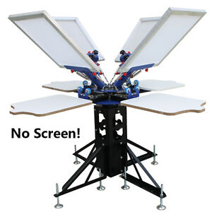 Silk Screen Printing 4 Color Printer Press Shirt Micro adjust Rotatable Machine