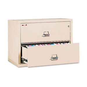 Fire King 2 drawer Lateral File Ul Listed 350 Ltr legal Parchment Fir23122cpa