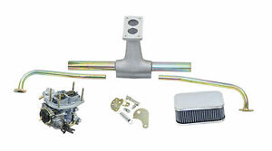 Empi Vw Bug Type 2 Deluxe Progressive Weber Carb Kit W Air Cleaner 43 0622
