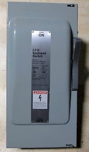 O Siemens Ite 100 Amp Safety Switch Disconnect Sn423 Fusible 3 Ph 240 Vac