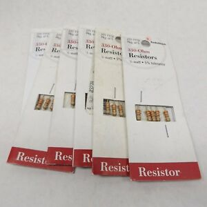 Radio Shack 271 1113 330 ohm Resistor 1 2 Watt 5 Tolerance 5 Pack X 6 30