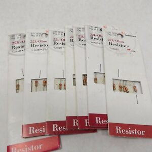 Radio Shack 271 1339 22k ohm Resistor 1 4 Watt 5 Tolerance 5 Pack X 7 35