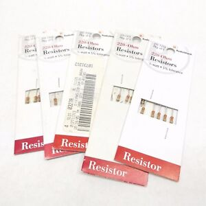 5 Pack X 5 25 Radio Shack 271 1313 220 ohm Resistor 1 4 Watt 5 Tolerance