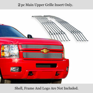 Fits 2011 2014 Chevy Silverado 2500hd 3500hd Billet Grille Grill Insert