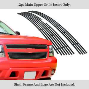 Fits 2007 2014 Chevy Tahoe Suburban Avalanche Black Billet Grille Grill Insert