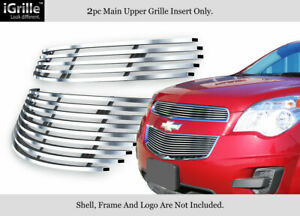 Fits 2010 2015 Chevy Equinox Main Upper Billet Grille Grill Insert