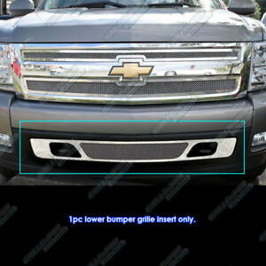 Fits 2007 2013 Chevy Silverado 1500 Bumper Stainless Steel Mesh Grille Grill