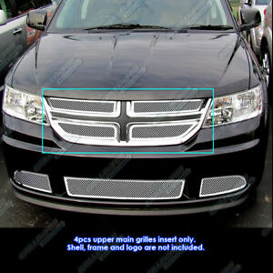 Fits 2011 2018 Dodge Journey Stainless Steel Mesh Grille Insert