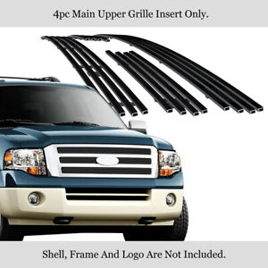 Fits 2007 2014 Ford Expedition Black Billet Grille Grill Insert