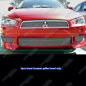 Fits 2008 2015 Mitsubishi Lancer Lower Bumper Billet Grille Insert