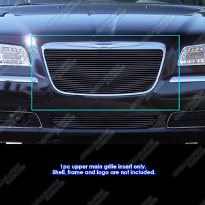 Fits 2011 2014 Chrysler 300 300c Black Billet Grille Grill Insert