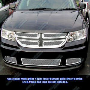 Fits 2011 2013 Dodge Journey Stainless Steel Mesh Grille Grill Insert Combo