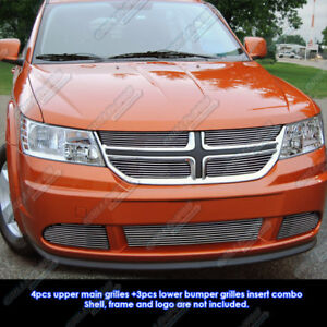 Fits 2011 2013 Dodge Journey Billet Grille Grill Insert Combo