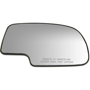 Mirror Glass Power W Backing Plate Passenger Side For Chevy Silverado Gmc Sierra