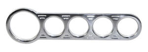 Billet Aluminum Chrome 5 Gauge Street Rod Hot Rod Universal Gauge Panel 16 9827