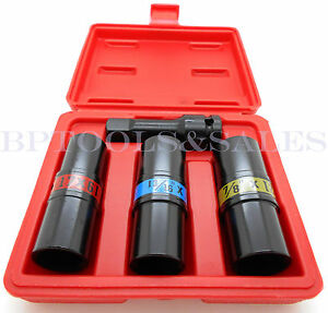 4pc 1 2 Dr Flip Lug Nut Impact Socket Set Metric Sae Mag Wheel Thin Wall