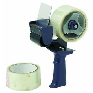 Tape Gun With 2 Rolls Clear Tape Intertape Polymer 2892 Adjustable Tension 3 Pk