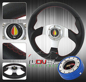 320mm Type R Racing Steering Wheel Blue 1 5 Thin Quick Release
