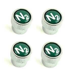 Land Range Rover Green N2 Nitrogen Tire Wheel Valve Stem Caps Set Of 4 Genuine