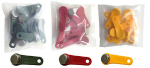 Keytabs ibuttons For Job Site Time Clock Qty 150 50 Red 50 Green 50 Yellow