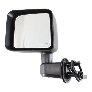 Power Mirror For 2011 2013 Jeep Wrangler jk Driver Side Heated Textured Black