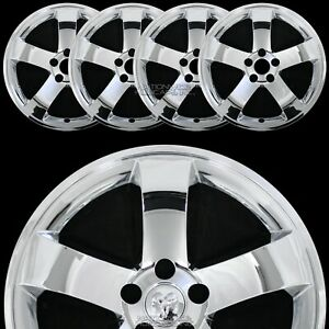 4 Fit Dodge Challenger 2009 2014 Chrome 18 Wheel Skins Hub Caps Full Rim Covers