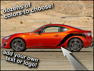 2013 And Up Scion Frs Custom Side Stripes Racing Graphics Decals 003