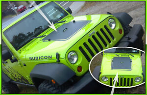2007 2008 2009 2010 2011 2012 2013 Jeep Wrangler Decal Graphic Hood Blackout 2