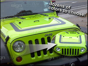 2007 2008 2009 2010 2011 2012 2013 Jeep Wrangler Decal Graphic Ultimate Hood 1