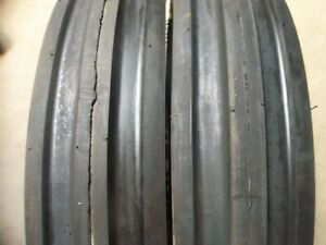 Two 600x16 600 16 6 00 16 Allis Calmers Thorn Resistant Triple Rib Tires W tubes