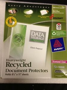 Avery Skilcraft Heavyweight Sheet Protectors 140 Count Diamond Clear Acid Free