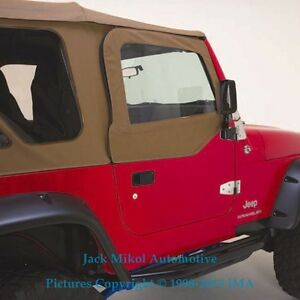 Demo Spice Upper Doors Skins Front Windows 97 06 Jeep Wrangler