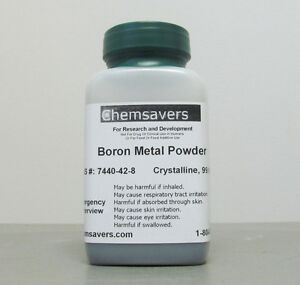 Boron Metal Powder 200 Mesh Amorphous Crystalline 99 999 mb 1g