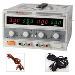 Dr meter Switching Dual output 50v 5a Dcpower Supply Lab Grade Regulated Precise