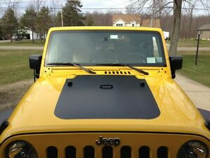 Jeep Blackout Hood Decal Matte Black Out Fits Jeep Wrangler Jk 07 18